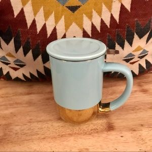 DAVIDS TEA PASTEL BLUE & GOLD TEA MUG 🍃